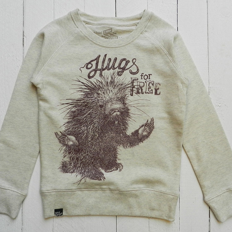 Lion Of Leisure - Porcupine Kids Sweatshirt