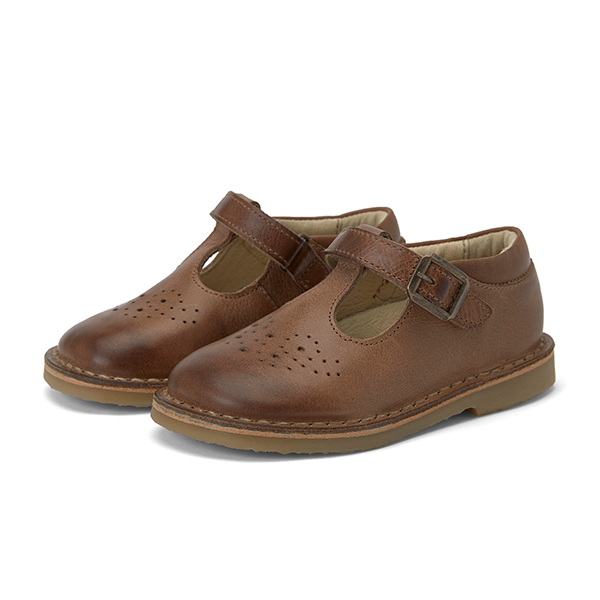Young Soles - Penny T-Bar - Tan Burnished