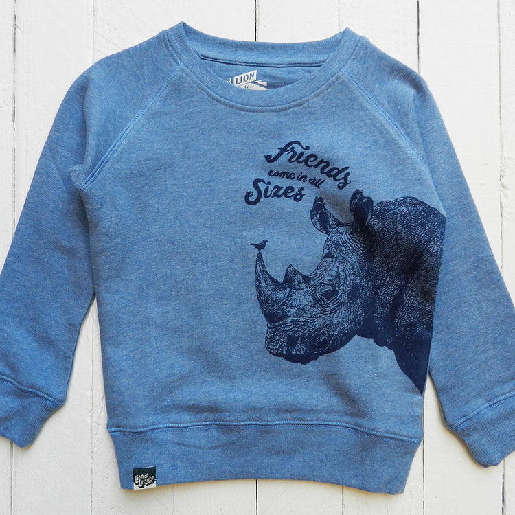 Lion Of Leisure – Rhino Kids Sweatshirt
