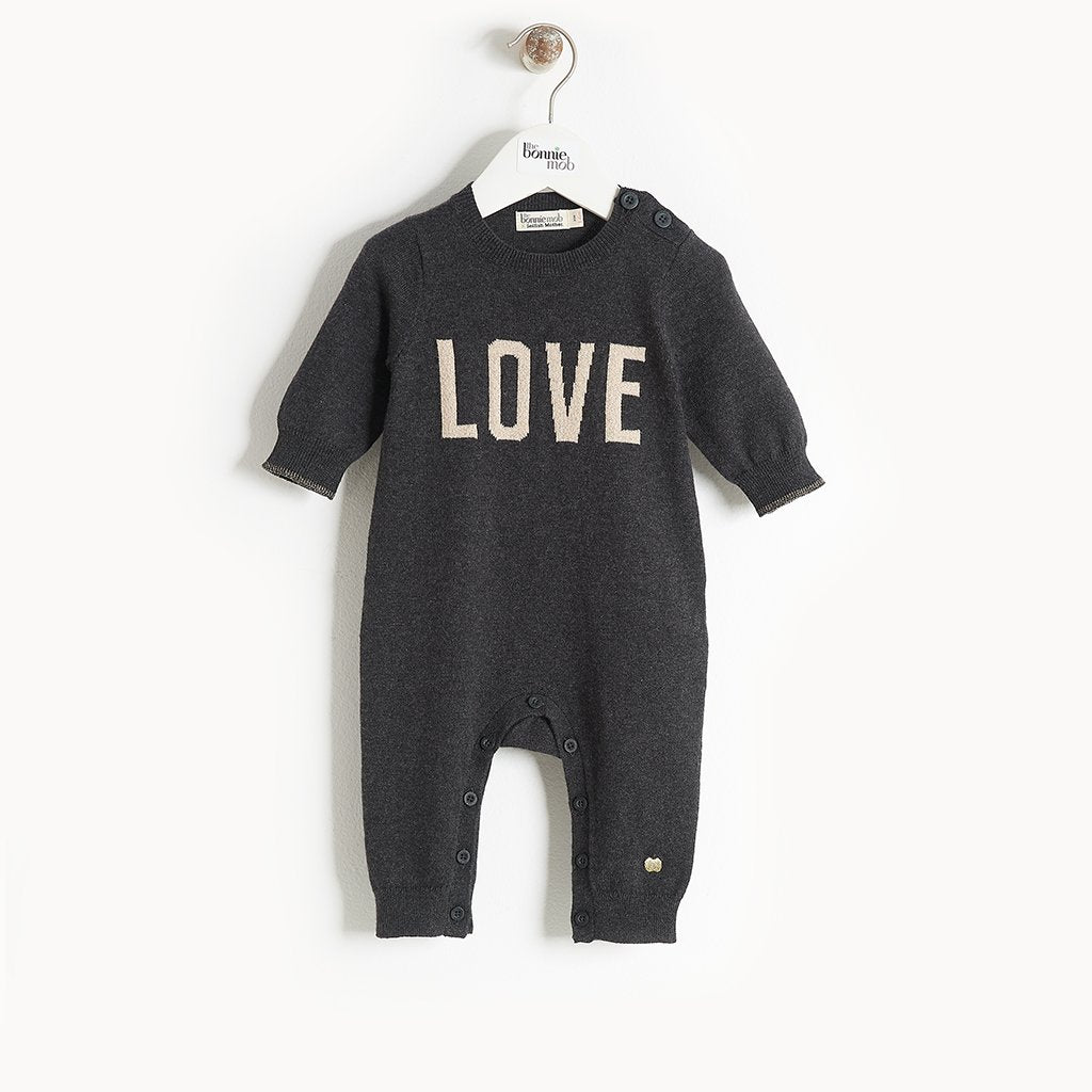 Selfish Mother X The BonnieMob - LOVE Charity Cashmere Babysuit