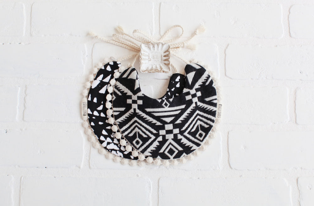 Billy Bibs - Aztec Pom Reversible Bib