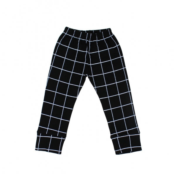Deer One - Black Grid Pants