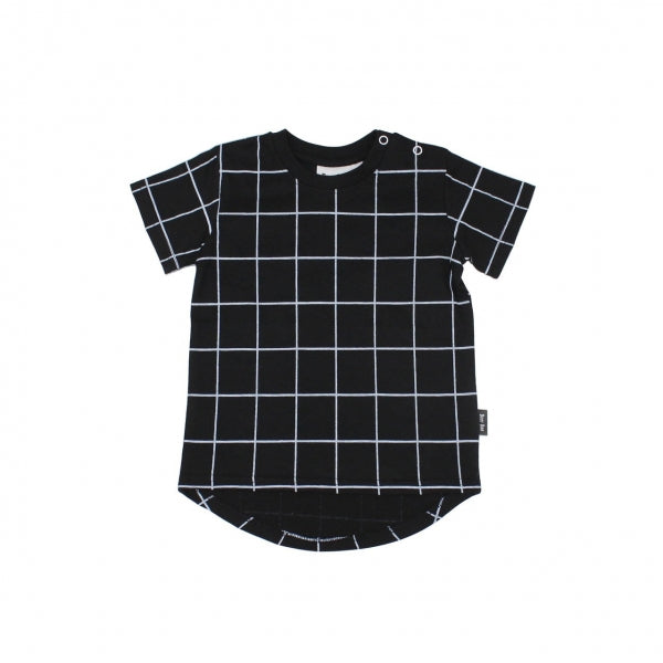 Deer One - Black Grid T-Shirt