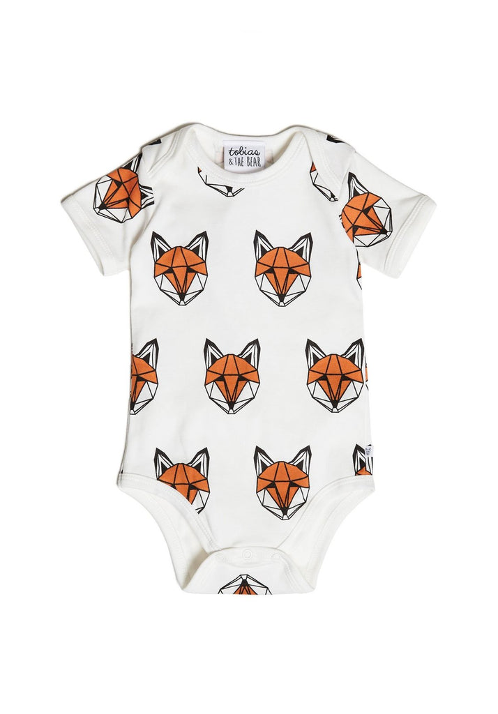 Tobias & The Bear - Just Call Me Fox Short Sleeve Romper
