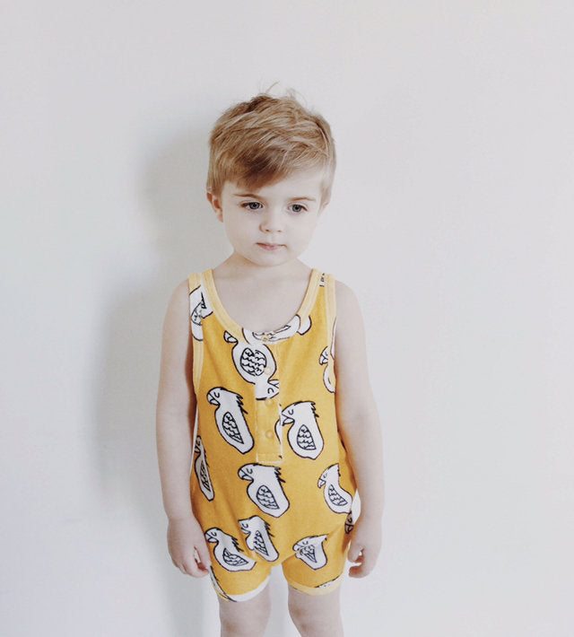 Hugo Loves Tiki - Parrot Terry Playsuit