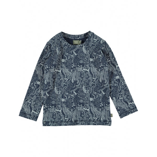 Kidscase - Bay Organic Printed T-Shirt in Dark Blue
