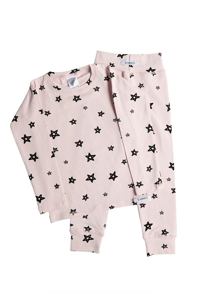 G.Nancy – Star Long PJ Set in Rose