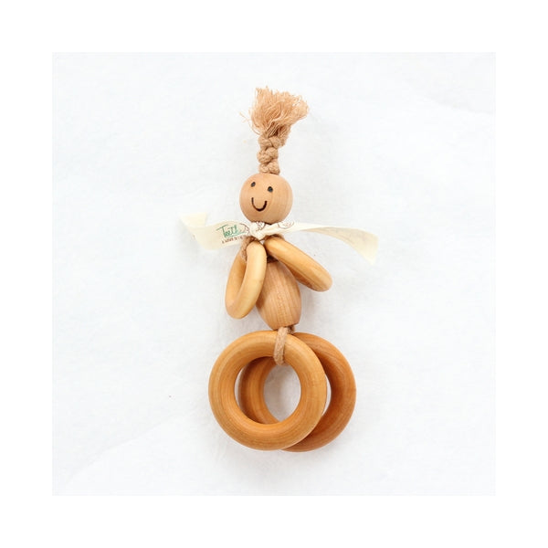 Teether Toys - Round Stanley Organic Wooden Teether