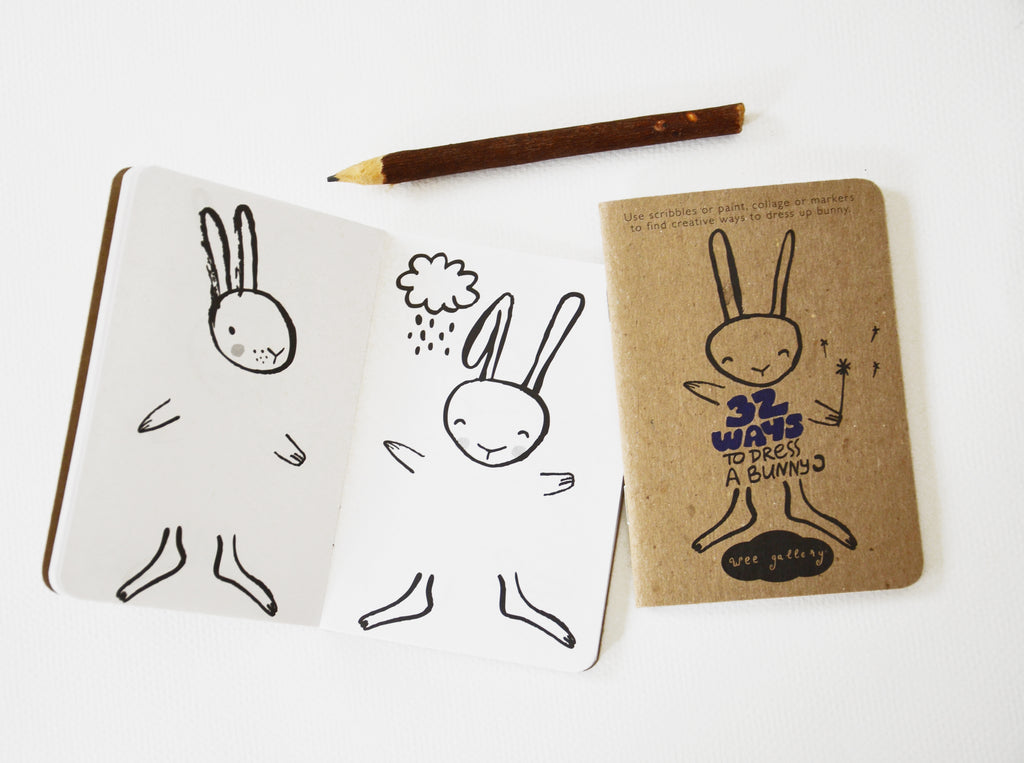 WEE GALLERY - Dress A Bunny Activity Book