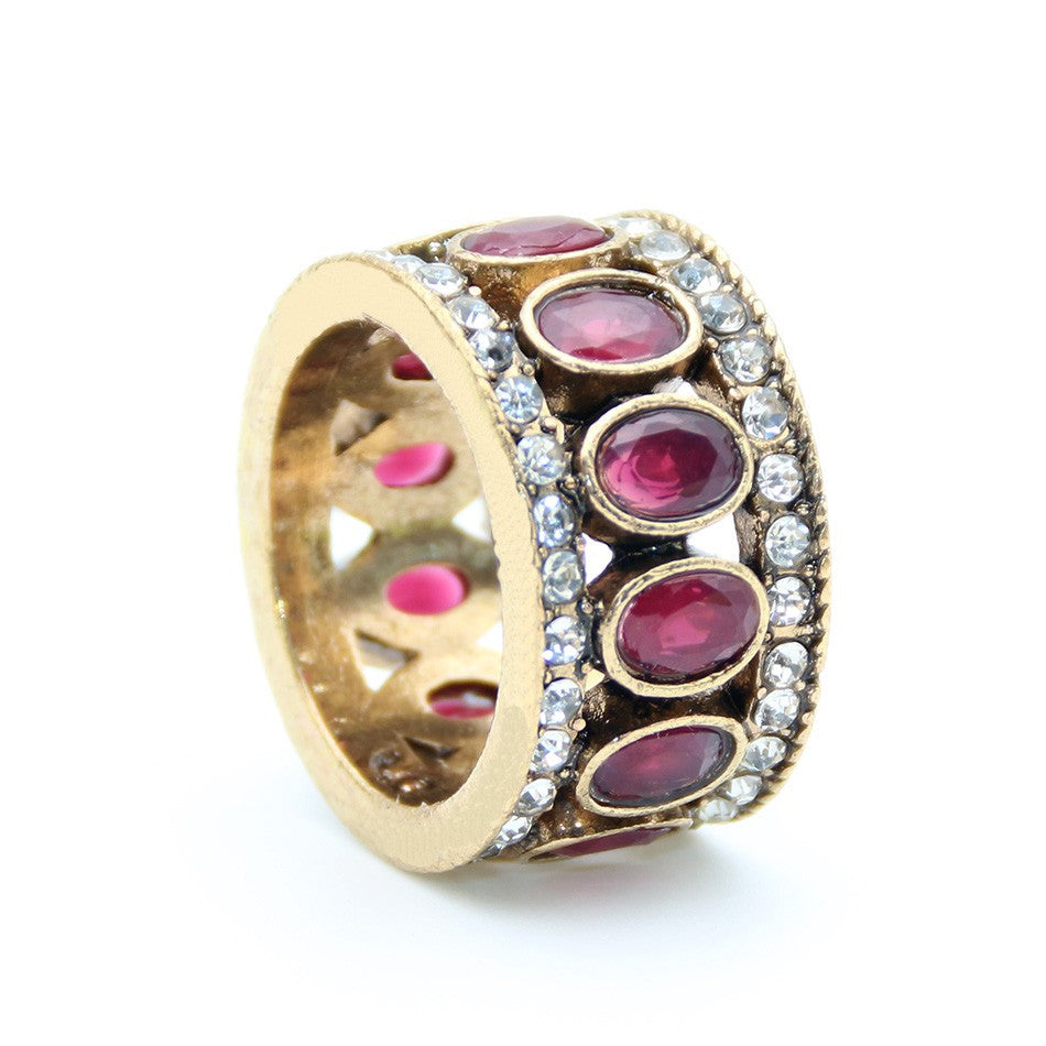 Best Selling Gold Plated Romantic Antique Turkish Vintage Ring