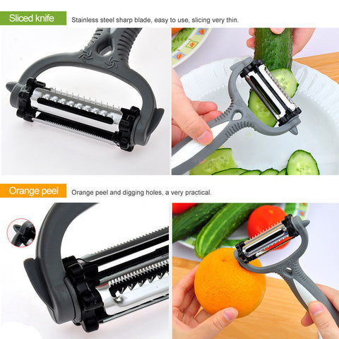 Multifunctional 360 Degree Rotary Vegetable Slicer - Paradisegadgets.com