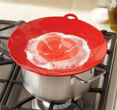 Silicone Lid Spill Stopper For Cooking - Paradisegadgets.com