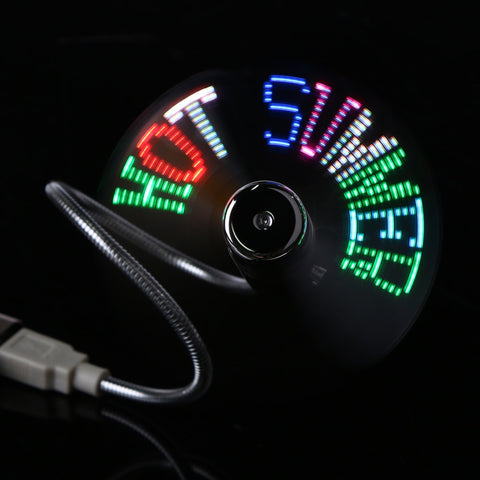 DIY Programmable Flash Fan 4 Styles LED USB - Paradisegadgets.com