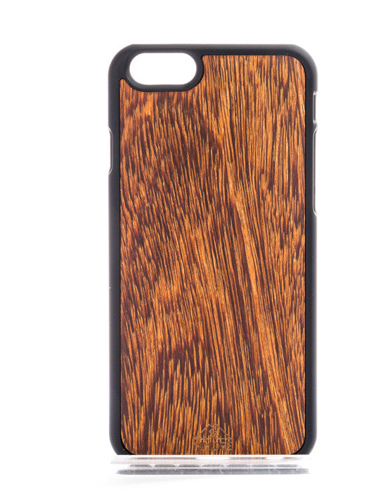iPhone/Samsung - Wood Sucupira Phone Cover - Handcrafted - Paradisegadgets.com