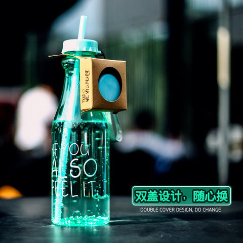 650ml Water Bottle With Straw - Paradisegadgets.com