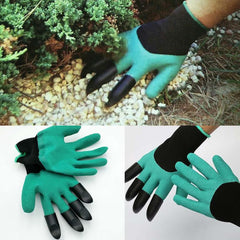 1 Pair Latex Gloves With Plastic Claws