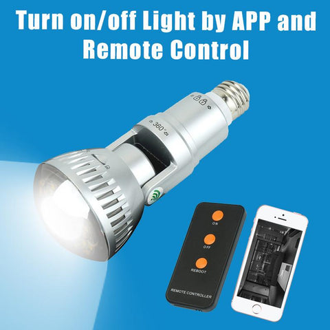 Premium 1080P HD Live Streaming Light Bulb Hidden Detector - Paradisegadgets.com