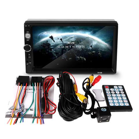 "7"" HD Touch Screen - MP5/Bluetooth/USB/FM/AUX with Camera - Paradisegadgets.com"