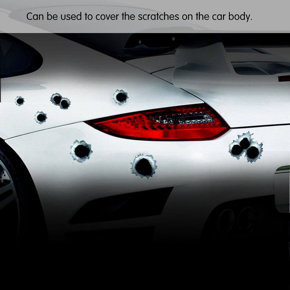 Funny Car Stickers - 3D Bullet Hole - Paradisegadgets.com