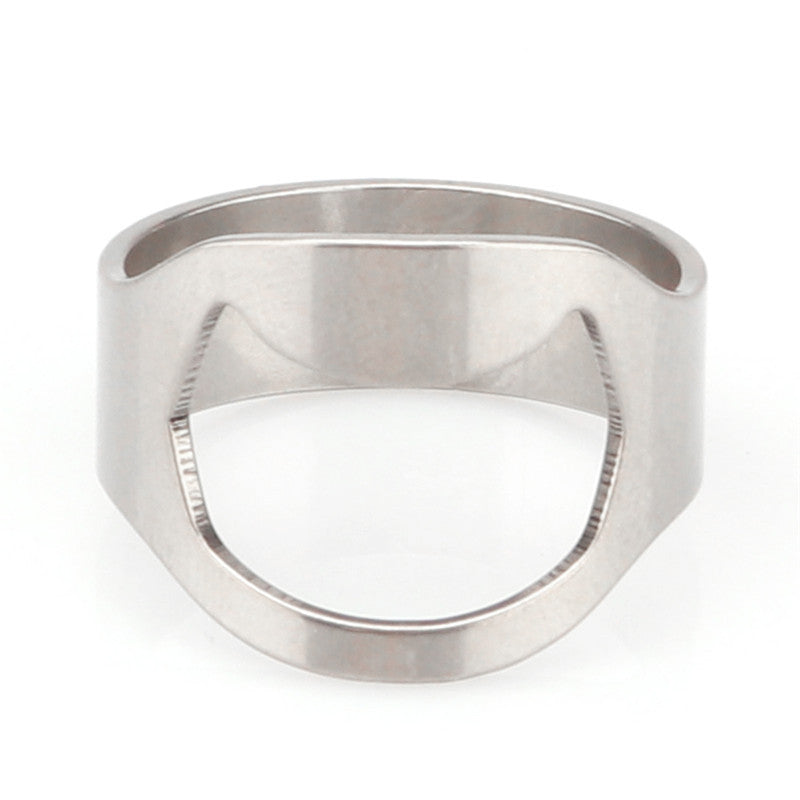 Silver Color Ring Bottle Opener Stainless Steel - Paradisegadgets.com