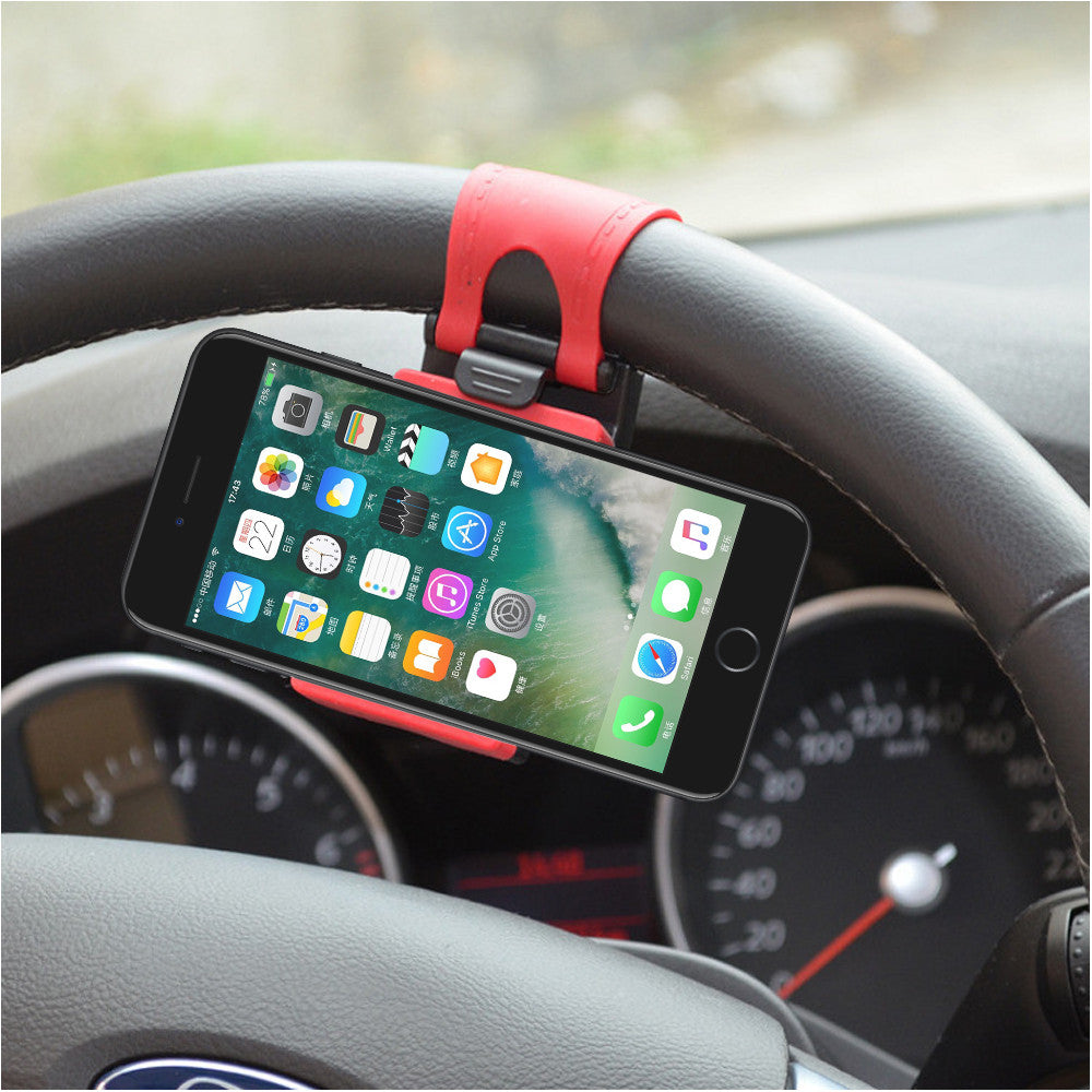 Car Steering Wheel Phone Holder Universal - Paradisegadgets.com