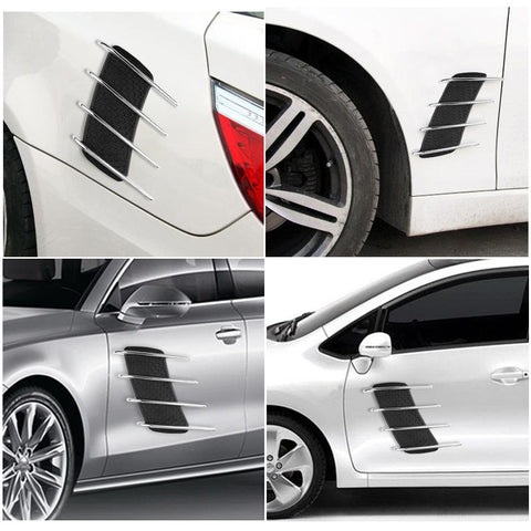 2 Chromed Rubber Car Stickers For The Sides - Paradisegadgets.com