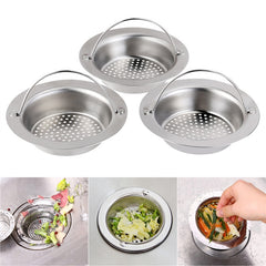 3 Stainless-Steel Kitchen Sink Strainer