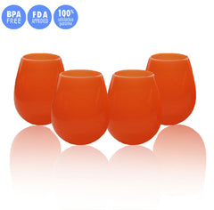 Set of 4 Unbreakable Silicone Wine Glasses