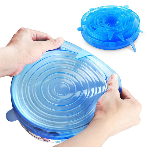 Silicone Stretch Lids, 6-Pack of Various Sizes - Paradisegadgets.com