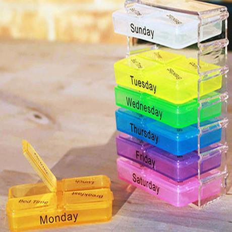 Weekly Pop-Up Pill Organizer - Paradisegadgets.com