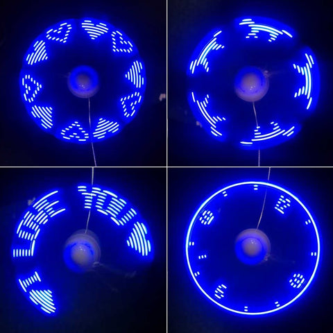 Flexible USB Fan LED Light/Display - Paradisegadgets.com