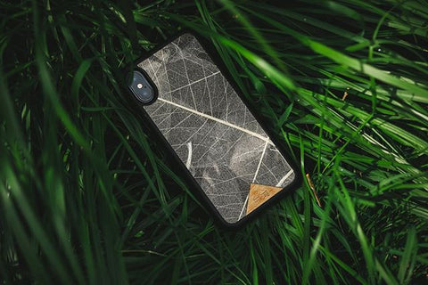 iPhone/Samsung - Organika Skeleton Leaves Phone Cover - Allergi Free - Paradisegadgets.com