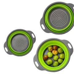 2 Foldable Silicone Fruit Vegetable Washing Basket