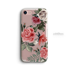 iPhone/Samsung - Petals Clear Phone Cover - Paradisegadgets.com