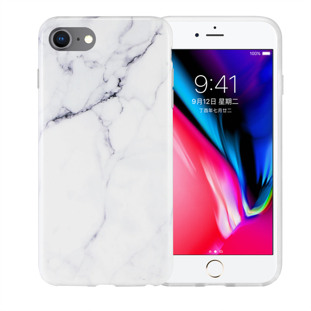 iPhone 7/8 - Soft TPU Phone Cover - Glossy & Marble - Paradisegadgets.com