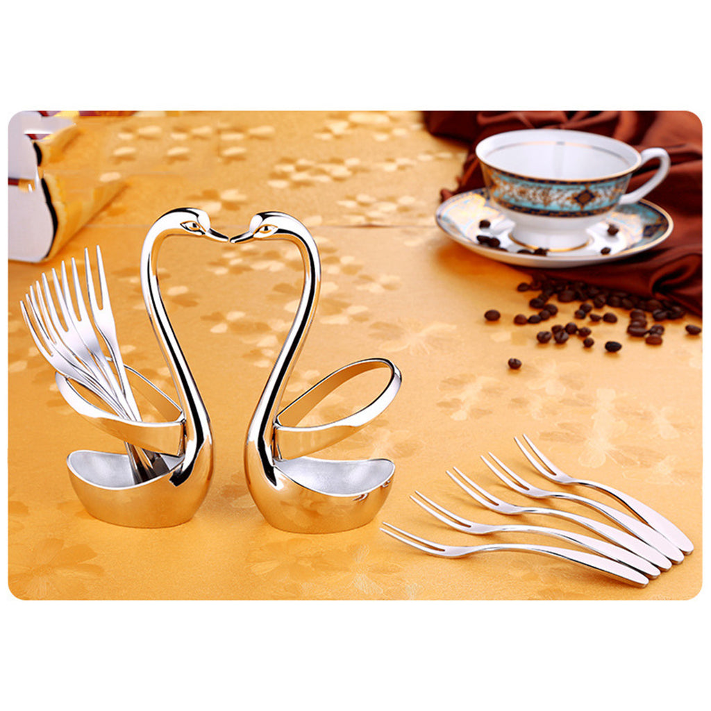 Swan Dinnerware Set - Forks and Spoons Holder - Paradisegadgets.com