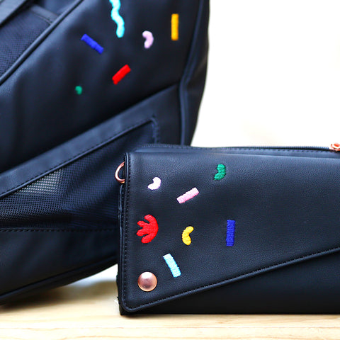 *Limited Edition* Embroidered V.I.Pouch- Pretty Strange Design