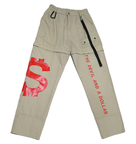 DEVIL MONEY CARGO PANTS (MENS L)