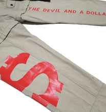 Load image into Gallery viewer, DEVIL MONEY CARGO PANTS (MENS L)