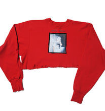 Load image into Gallery viewer, BLOOD RED CROPPED HOODIE