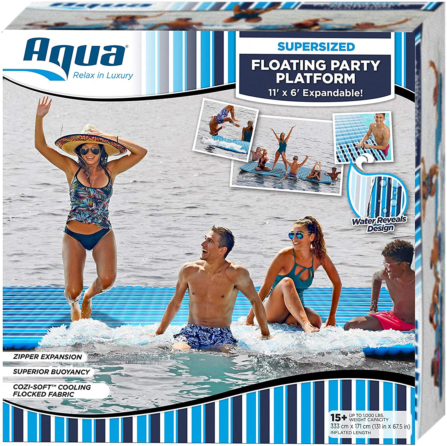 Supersized Floating Party Platform - 12' x 6'