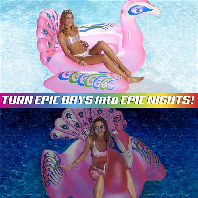 Lite Up! Princess Peacock LED Pool Float