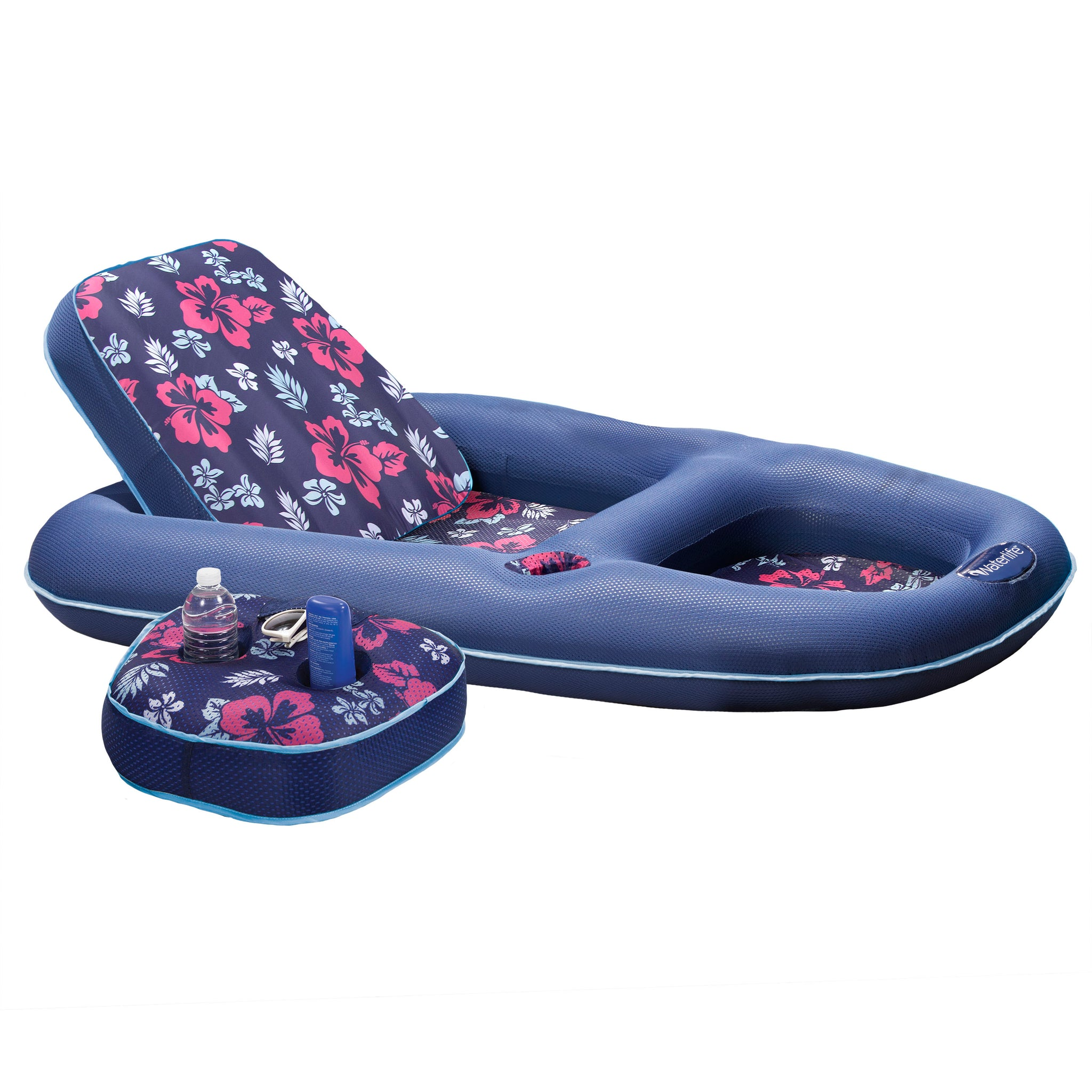 Ultimate 2-in-1 Lounge & Caddy - Hibiscus Print
