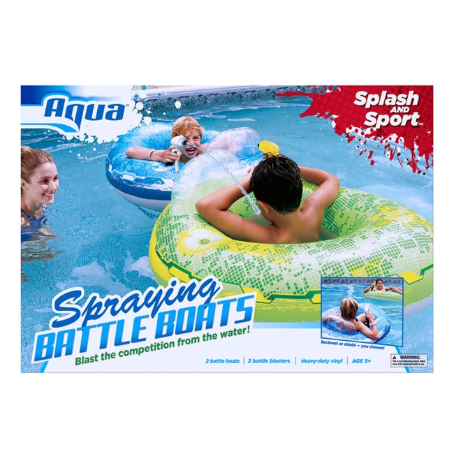 Inflatable Battle Boats with Spraying Water Guns