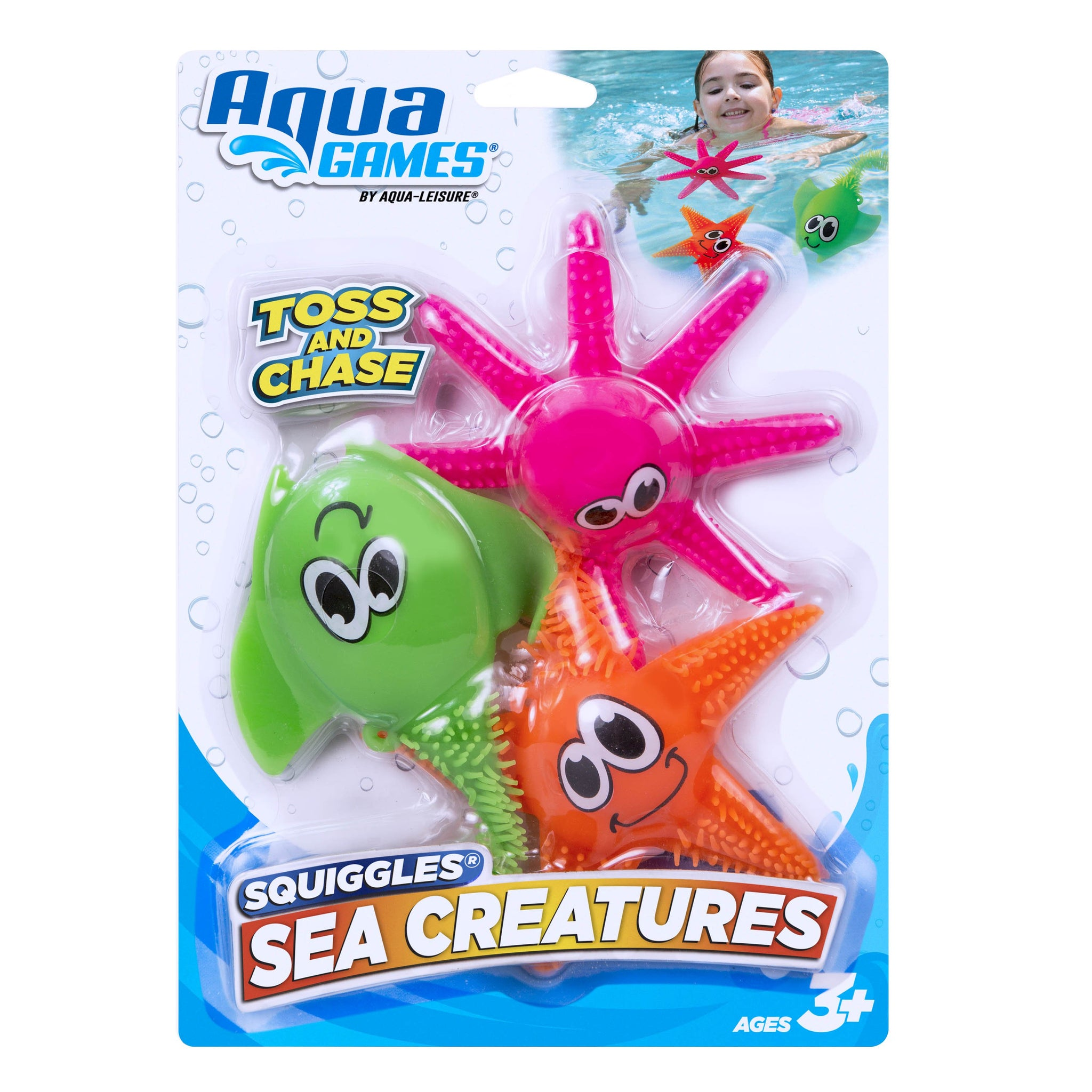Lite Up! Squiggles 3-Piece Pool Toy with Lights