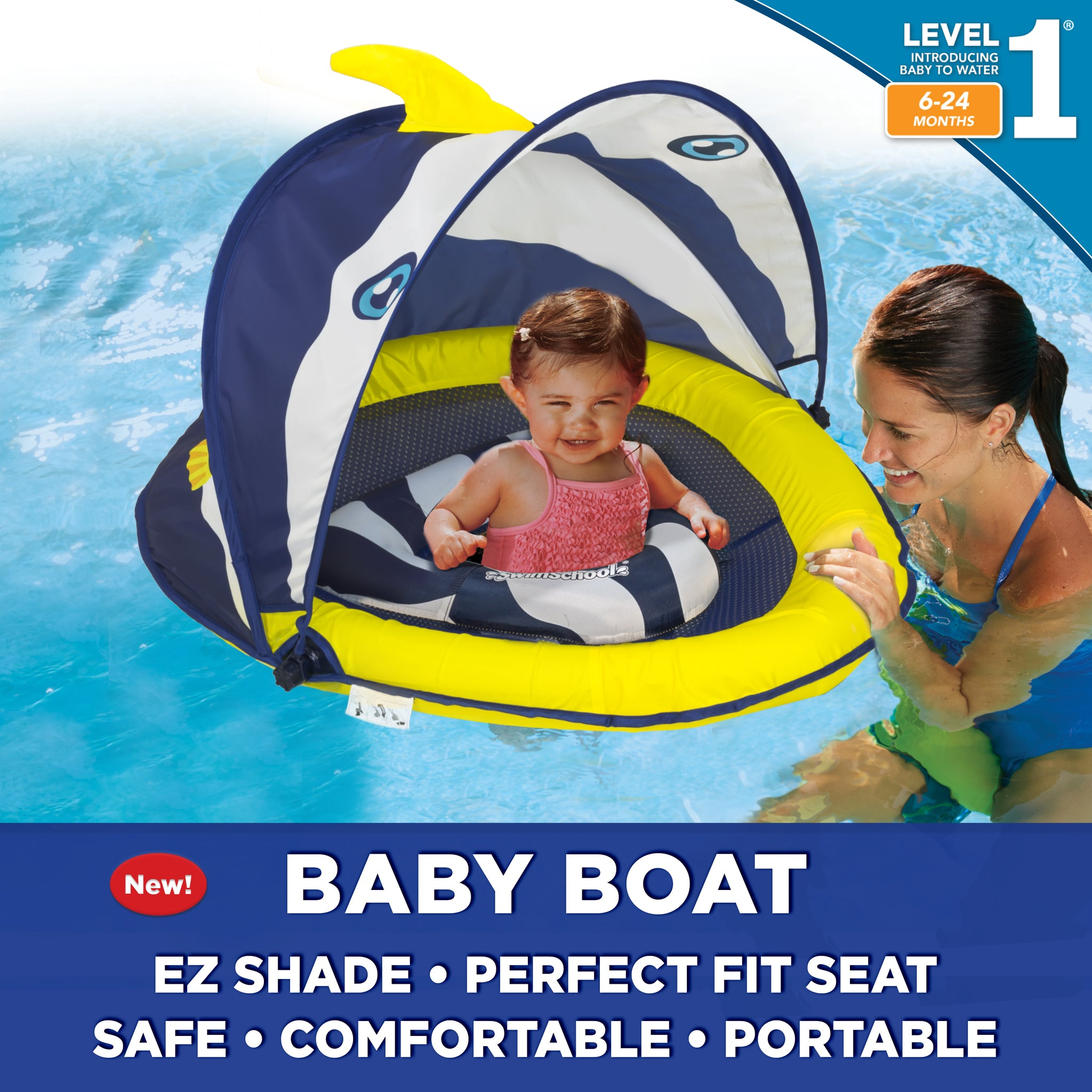 Banner Fish Perfect Fit™ Baby Boat