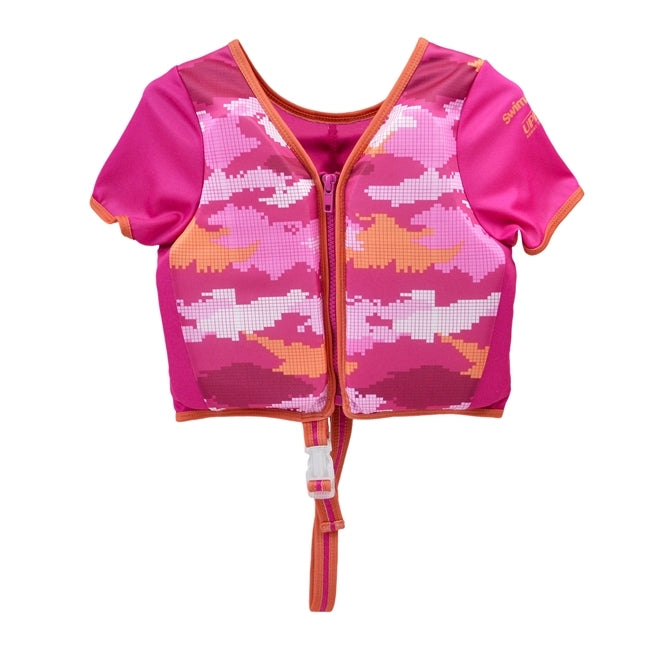 Swim Trainer Vest with Sleeves - Pink Camo