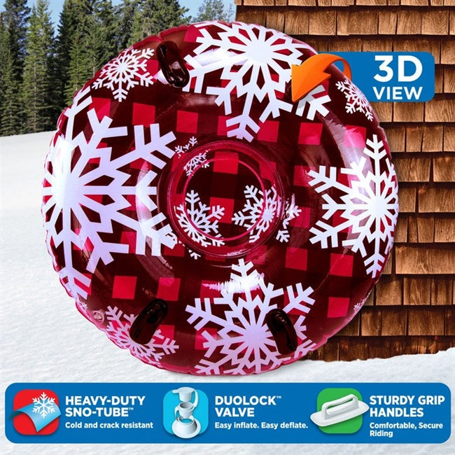 "3D MEGA 48"" Sno-Tube - Red Hot Plaid"