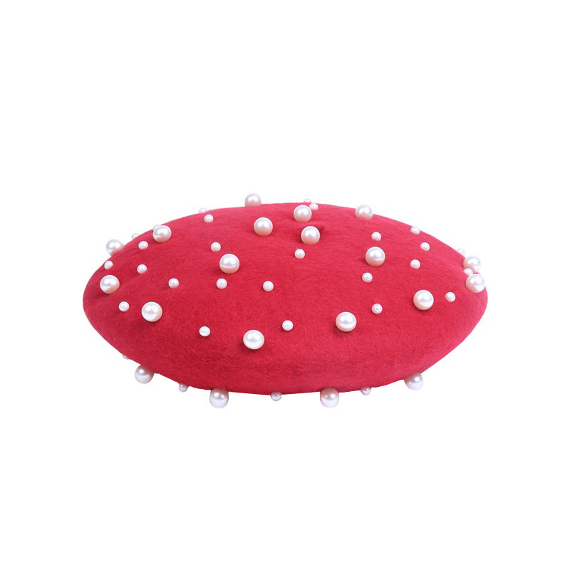 Beret with Pearls