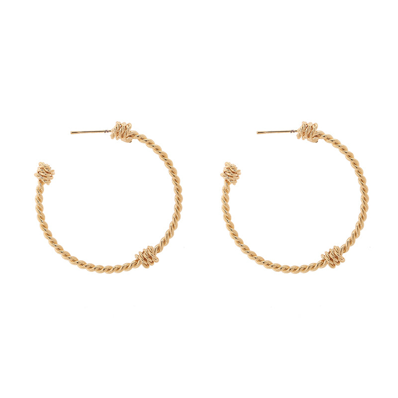 Robyn Twisted Hoop Earrings